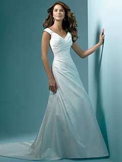 Custom Proms A line off shouder white wedding dress