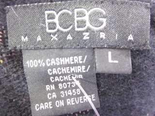 BCBG MAX AZRIA Black Short Sleeve Cashmere Cardigan L