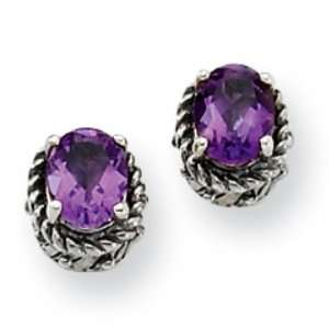 Sterling Silver 1.50ct Amethyst Earrings Jewelry