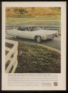 1968 white Cadillac Sedan deVille photo vintage car ad