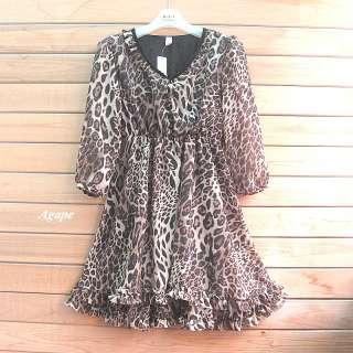 D2139 New Fashion Temperament V Neck Layer Chiffon Dress