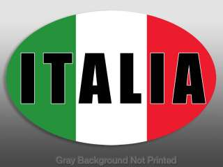 ITALIA OVAL Sticker  italian stickers flag decal colors