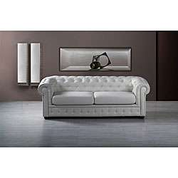 Chesterfield Tufted Leather Sofa  Overstock