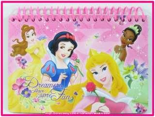 Disney Princess Autograph Book   Belle Snow White Auora Tiana New Free