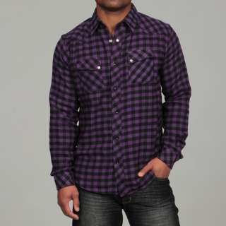 Cactus Mens Plaid Flannel Shirt