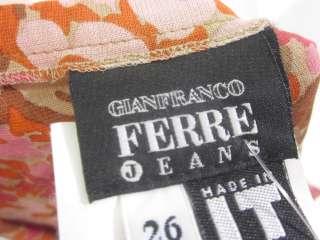 GIANFRANCO FERRE JEANS Multicolor Floral Print Skirt 26