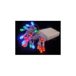 Set of 10 Battery Operated Multi LED Wide Angle Christmas