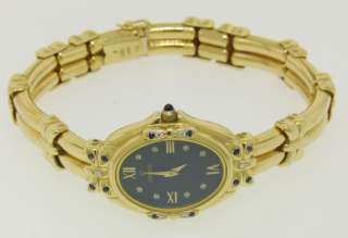 Concord 18k Solid Gold Sapphire Diamond Ladies Watch