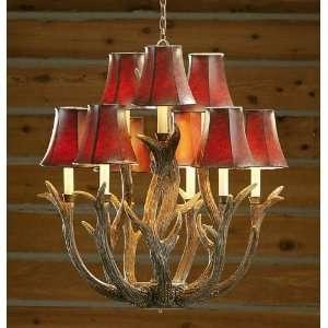 9 Light Antler Chandelier: Home Improvement