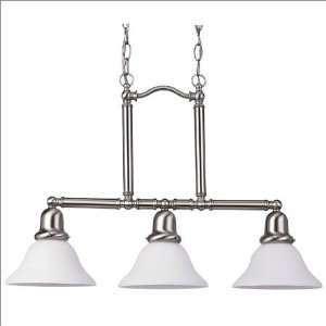 Sea Gull Lighting Sussex Fluorescent Kitchen Island Pendant in Brushed