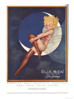 Blue Moon Silk stockings, Womens Glamour Pin Ups Nylons Hosiery, USA