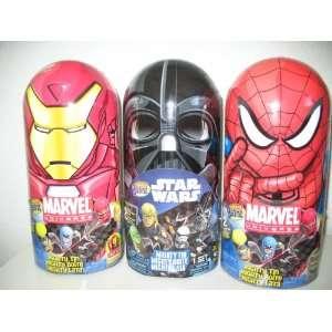 Mighty Beanz Tin Star Wars, Marvel Spiderman, Iron Man Set