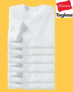 Hanes TAGLESS T Shirt 5250 Plain White S XL Lot Wholesale Bulk