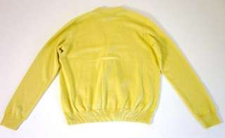 Nwt RALPH LAUREN Rugby Yellow Cashmere Cardigan Sweater XL
