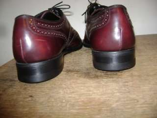 FLORSHEIM MENS BURGUNDY WING IP OXFORD Shoe 10 D USA |