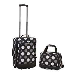 Polka Dot 2 piece Lightweight Carry on Luggage Set