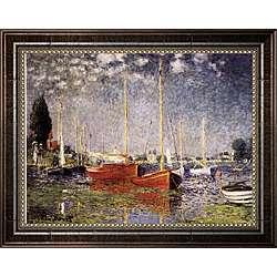 Claude Monet Argenteuil Framed Canvas Art