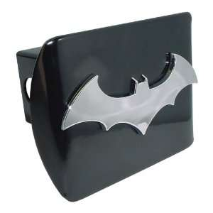 Batman Black and Chrome 3D Bat Emblem Metal Trailer Hitch Cover