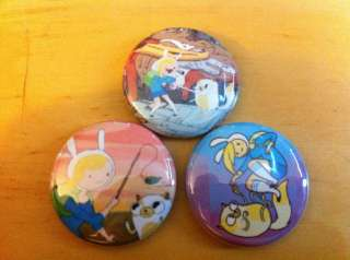 TIME Fionna and cake set of 3 1 pins pinback button Finn Jake set #2