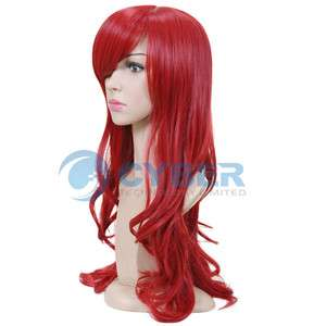Charming Stylish long Wavy Curly Cosplay Party Hair Womens Full Wig