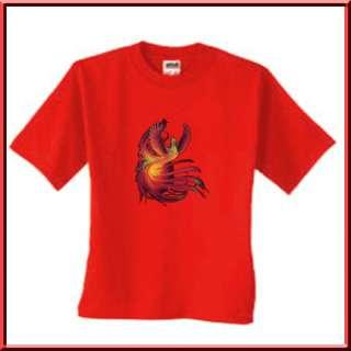 Phoenix Flaming Bird Mythical T Shirt S,M,L,XL,2X,3X