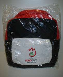 OFFICIAL UEFA EURO 2008 ZIP SOCCER BACKPACK BAG