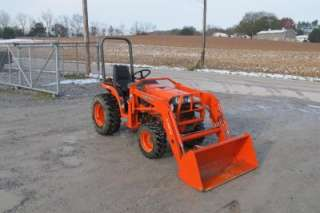 2006 KUBOTA B7510 4X4 TRACTOR WITH LOADER AND BELLY MOWER, VERY NICE