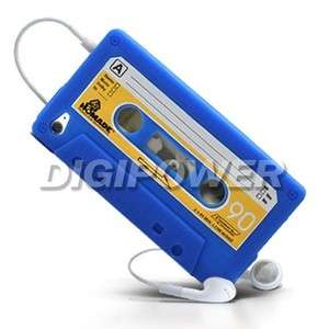 BLUE CASSETTE TAPE CASE COVER SKIN FOR IPOD TOUCH 4 4G