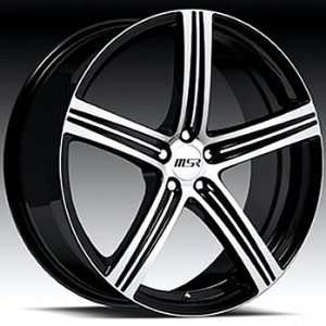 MSR 52 20x7.5 Black Wheel / Rim 5x100 with a 40mm Offset and a 72.64