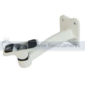 White Wall Mount Metal Bracket for CCTV Camera