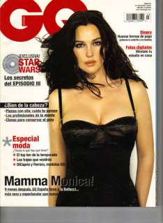 MONICA BELLUCCI Spanish GQ Magazine 3/05 FAMKE JANSSEN