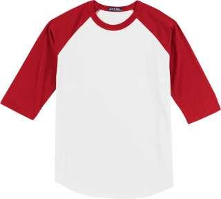 Sport Tek   Colorblock Raglan Baseball Jersey T Shirt. T200.