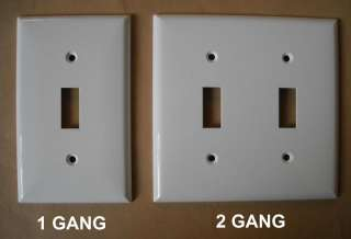 SWITCH PLUG PLASTIC WALL COVER PLATE 1 2 3 4 GANG WHITE