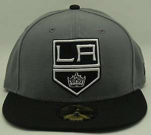 NEW ERA LOS ANGELES KINGS TWO TONE BLACK GREY NHL 59FIFTY FITTED HAT