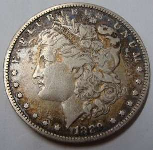 1889 Morgan O Mint Mark Silver Dollar Coin   Circulated