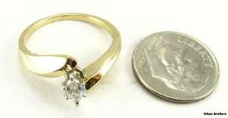 25ct Marquise Cut DIAMOND Engagement RING 14k White & Yellow Gold