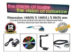 USB PROGRAMMABLE MESSAGE SIGN BOARD DISPLAY 5060236647146