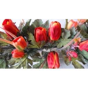 36 Artificial Tulip Flower Swag: Home & Kitchen
