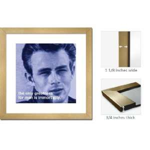 Gold Framed James Dean Immortality Quote Great Art FrSs054