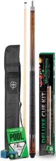 pool cue kit case new 5 piece kit includes pool book cue case chalk