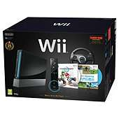 Nintendo Wii Black Limited Edition with Wii Sports, Mario Kart, Black