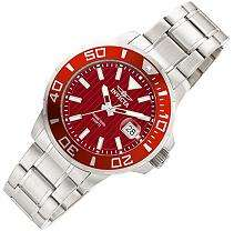 Invicta Mens Panton Sport Stainless Steel Red Watch