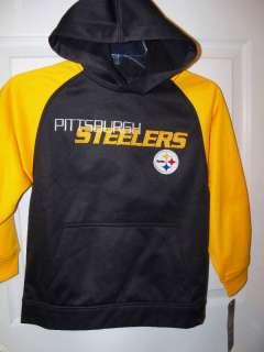 REEBOK Pittsburgh Steelers Hoodie Boys Youth 5 / 6 NWT