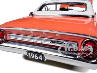 1964 FORD GALAXIE 500 XL HARDTOP SAMOAN CORAL/WHITE 1/18 BY SUNSTAR