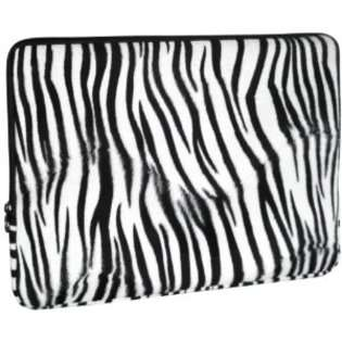 Cliffs Faux fur Zebra Animal Print Carrying Case Sleeve for Apple