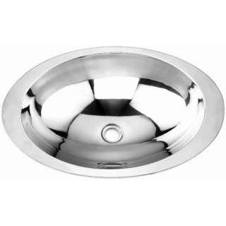 Yosemite Home Decor Stainless Steel Oval Drop In Bathroom Sink