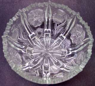 Antique EAPG American Vintage pressed/molded Glass Bowl