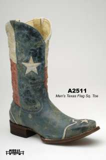 Corral Mens Boots Genuine Leather Red/White/Blue A2511 All Sizes