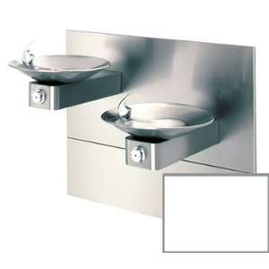 WHITE White Hi Lo Barrier Free, Wall Mounted, Dual Drinking Fountains