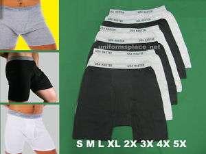 prs New MENS BOXER BRIEFS Short Underwear Cotton Big